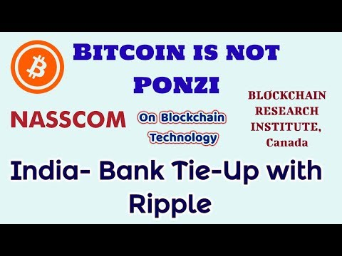 current cryptocurrency news in India!Indian bank tie up with ripple!NASSCOM with blockchain!hindi