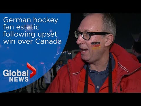 Pyeongchang 2018: German hockey fan tries not to rub it in after beating Canada