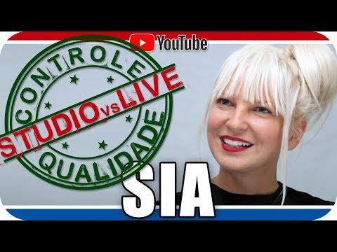 SIA Studio vs Live CONTROLE DE QUALIDADE Reagindo React Reação Pop Electro Pop Dance