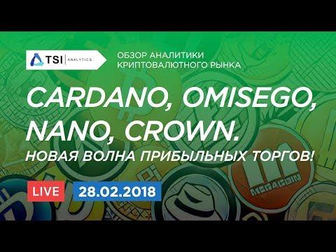 Cardano (ADA), OmiseGO (OMG), Nano (NANO), Crown (CRW). Новая волна прибыльных торгов!