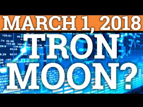 TRON TRX AND BITCOIN BTC READY TO MOON? PRICE PREDICTION 2018 + CRYPTOCURRENCY MARKET NEWS