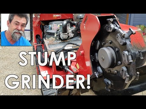 Toro STX 38 Stump grinder Dave Stanton woodworking how to