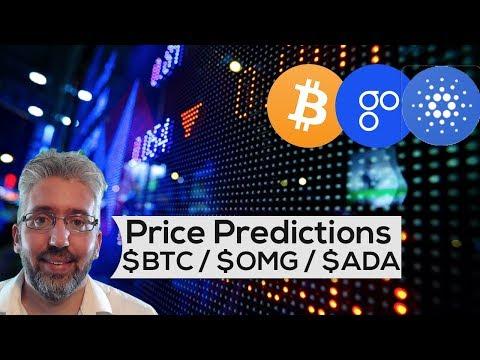 Price Predictions: Bitcoin ($BTC), OmiseGO ($OMG), Cardano ($ADA)