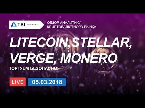 Litecoin, Stellar(XLM), Verge, Monero —  торгуем безопасно | Прогноз цены на Стеллар, Криптовалюты
