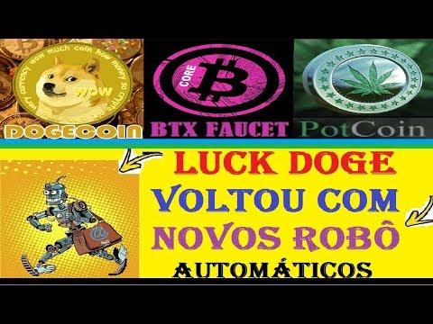 3 MELHORES FAUCETS PRA GANHAR DOGECOIN BITCORE E POTCOIN + LUCK DOGE VOLTOU NOVOS ROBÔS AUTOMÁTICOS