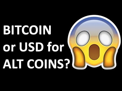 CRYPTO IS CHANGING! BITCOIN REPLACED BY USD FOR ALT COINS & CRYPTOCURRENCY TRADING IN 2018