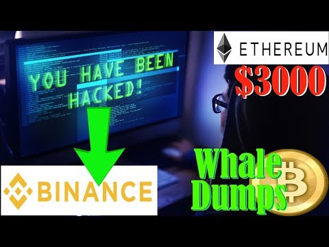Binance Hack! – Ethereum to $3k! – Whale Dumps Bitcoin!
