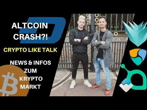 ALTCOIN & CRYPTO CRASH?! CRYPTO TALK LIVE –  Krypto markt NEWS – LISK, BTC, Litecoin, Coinmarketcap