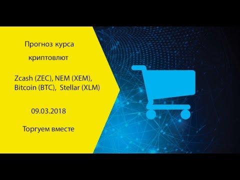 Прогноз курса криптовалют Zcash (ZEC), NEM (XEM), Bitcoin (BTC), Stellar (XLM),