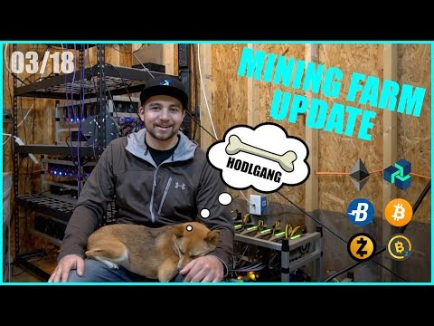 What its like Mining Cryptocurrency in 2018 – BTC/ETH/ZEC – VoskCoin March Farm Update!
