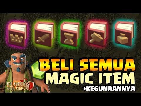 BELI DAN COBA SEMUA MAGIC ITEM YANG ADA! – Clash of Clans Indonesia