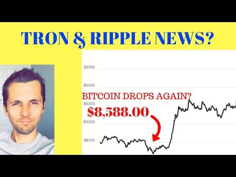 While Bitcoin Drops Below $9K, Ripple & Tron are Building Momentum