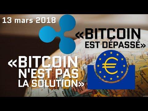 Déclarations du PDG de Ripple et de la banque centrale européenne sur Bitcoin (13 mars 2018)