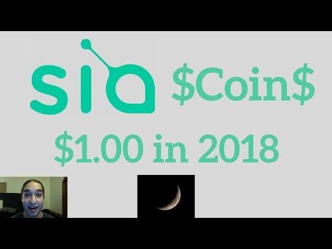 Siacoin Price Prediction – $1.00 in 2018