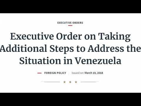 Trump Signs Executive Order Banning Venezuela's Petro Cryptocurrency