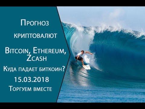 Прогноз курса криптовалют Bitcoin, Ethereum, Zcash  До какого уровня упадет биткоин?