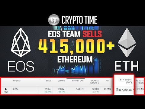 EOS DUMPED 417,000 ETHEREUM IN THE LAST 30 DAYS! (What does this mean?)
