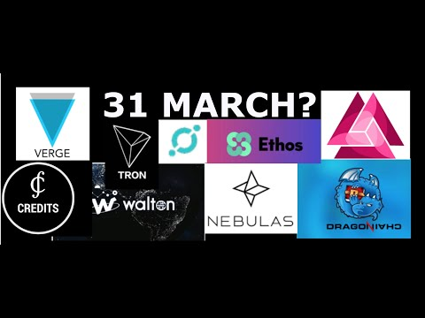 WHY 31 MARCH is BIGDAY for CRYPTO | IOTA | ETHOS | XVG | AND MORE