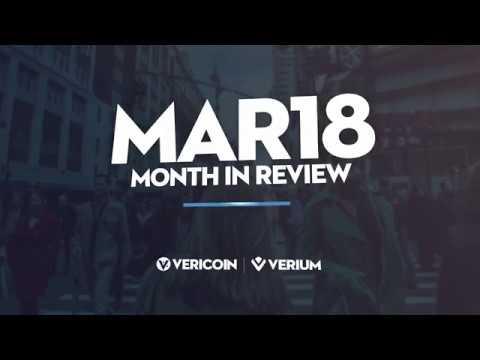 March VeriCoin Verium Update 2018