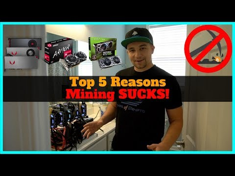 Top 5 Reasons Why It SUCKS to be a Cryptocurrency Miner!