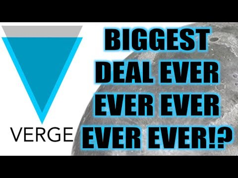 VERGE BIGGEST DEAL IN CRYPTO HISTORY!? CROWDFUNDING REACHED!!