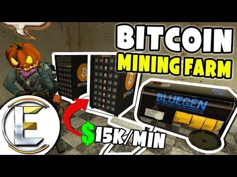 Bitcoin Mining Farm I Made $914,591 – GMOD DarkRP (Bitcoin Base)