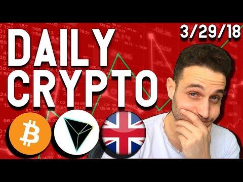 Daily Crypto News: Bitcoin Crashing? Tron Pumps, Bitfinex Relocates, $XPA $SKY $TRX $BTC