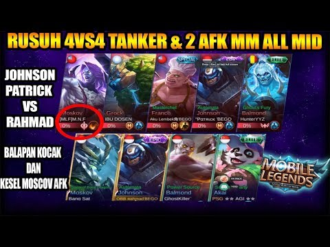 RUSUH FULL TANK DAN 2 ADA YANG AFK MID LANE JOHNSON PATRICK VS RAHMAD