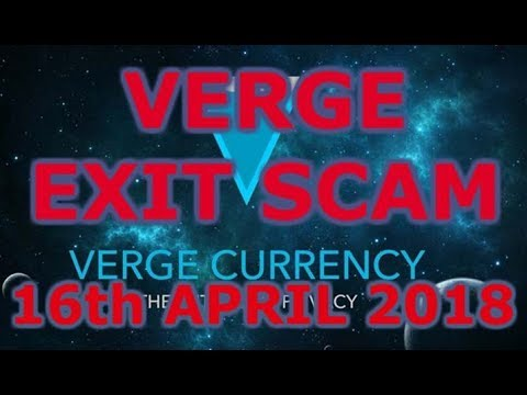 Verge Crowdfund Partnership – Exit Scam 16th April 2018 (Breaking News)
