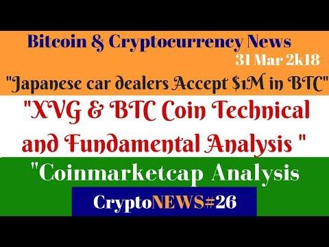 Daily Crypto News #26, XVG & BTC Coin Technical & Fundamental Analysis,Car dealers Accept $1M in BTC