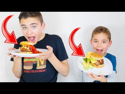 HAMBURGER XXL CHALLENGE entre Frères !!! – Le pire burger du monde ?