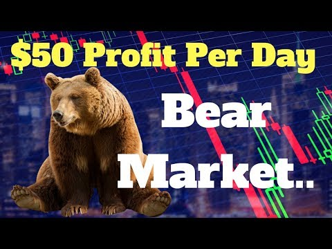Simple Way To Profit $50 Per Day Trading During A Cryptocurrency Bear Market | Tutorial