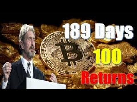 John McAfee – Hodl For Gold Bitcoin Investors Wait Just 189 Days For 100 Returns