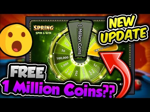 OMG! HOW TO GET 1 MILLION FREE COINS FROM SPIN AND WIN?!! New Update 1M Coins! Miniclip 8 ball pool