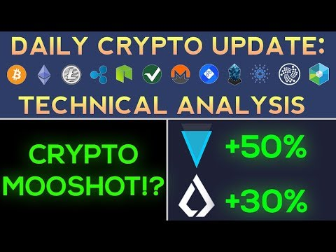 Cryptocurrencies BOUNCE + Verge and Lisk UP HUGE!!! (MOONSHOT?)