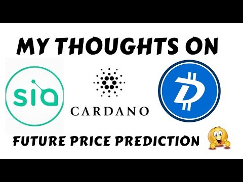 My thoughts on sia coin & digibyte & cardano | best coins in bull run ?