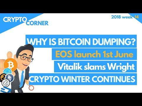 Why is Bitcoin dumping? Register EOS before 1June and other news…| Crypto Corner wk14