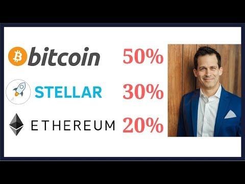 Cryptocurrency Dream Portfolio – Bitcoin (BTC) 50%, Stellar Lumens (XLM) 30%, Ethereum (ETH) 20%