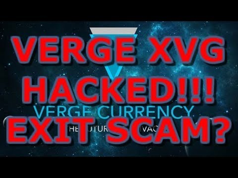 Verge (XVG) HACKED!!! CROWDFUND PARTNERSHIP EXIT SCAM OR JUST UNLUCKY?