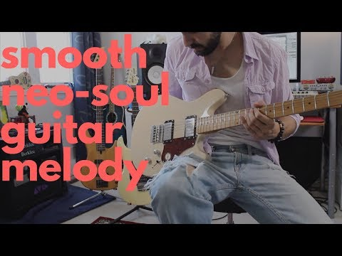 smooth neo soul guitar lick