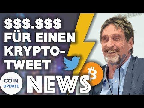 John McAfee kassiert 6-stellige Summen für Krypto-Tweets | Verge – Krypto News 05.04.2018