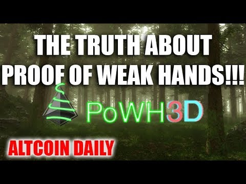 THE TRUTH ABOUT PROOF OF WEAK HANDS!!!                              POWH3D A CRYPTOCURRENCY SCAM?