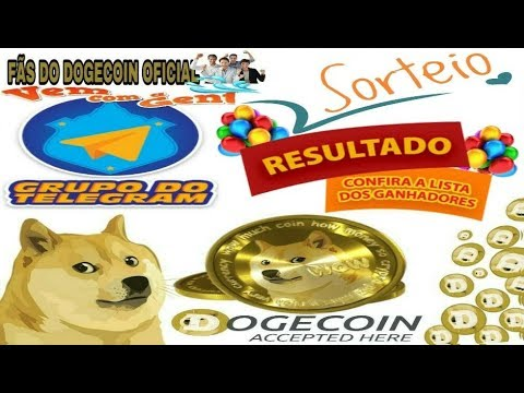🔵RESULTADO DO SORTEIO DO GRUPO FÃS DO DOGECOIN DATA 06/04/2018🔵