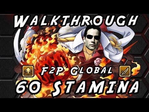 Neo Akainu 60 Stamina – Striker & Slasher F2P [One Piece Treasure Cruise] – Pixel Walkthrough