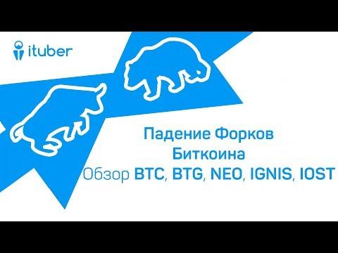 Падение Форков Биткоина. Обзор BitCoin BTC, BitCoinGold BTG, NEO, IGNIS, IOStoken IOST