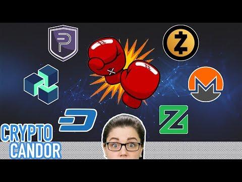 Privacy Coins Compared | XMR | PIVX | DASH | XZC | ZEC | ZEN
