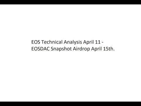 EOS Technical Analysis April 11 – EOSDAC Snapshot Airdrop April 15th.
