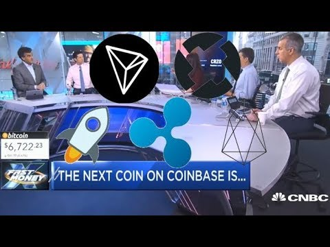 THE NEXT COIN ON COINBASE IS? RIPPLE, STELLAR, 0X, EOS, TRON, VERGE? (CNBC NEWS)