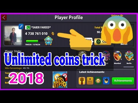 OMG || 8 Ball Pool Unlimited Coins Latest Trick 2018 || Coins Trick 8 Ball Pool 2018 || SABIR FAREED