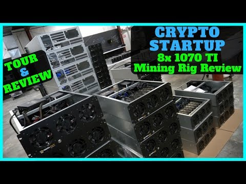 Touring a Cryptocurrency Startup W/ Prebuilt Mining Rigs – 8x 1070 TI Mining Rig Review